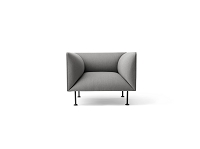 Godot 1 Seater Kvadrat Remix 2 133 Fabric Light Grey