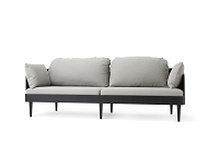 Septembre Sofa Black Ash Legs Nevotex Milly 692 Fabric Stone