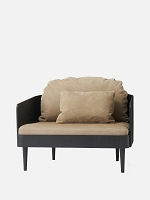 Septembre Chair Black Ash Legs Sorensen Royal Nubuck 30256 Leather Almond
