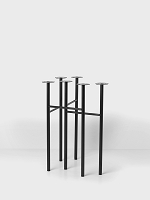 Mingle Table Legs Wood W48 Black Stained | Ferm Living