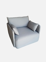Offset 1 Seater Kvadrat Steelcut 2 160 Fabric Grey