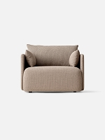 Offset 1 Seater Kvadrat Colline 228 Fabric Dark Sand