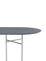Mingle Table Top Oval 220 Lino Dusty Blue | Ferm Living