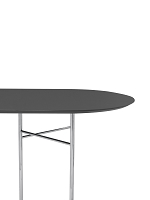 Mingle Table Top Oval 220 Lino Charcoal | Ferm Living