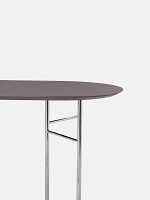 Mingle Table Top Oval 150 Lino Taupe | Ferm Living