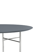 Mingle Table Top Round Ø130 Lino Dusty Blue | Ferm Living
