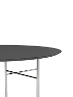 Mingle Table Top Round Ø130 Lino Charcoal | Ferm Living