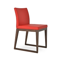 Aria Sled Wood Chair Leather | SohoConcept