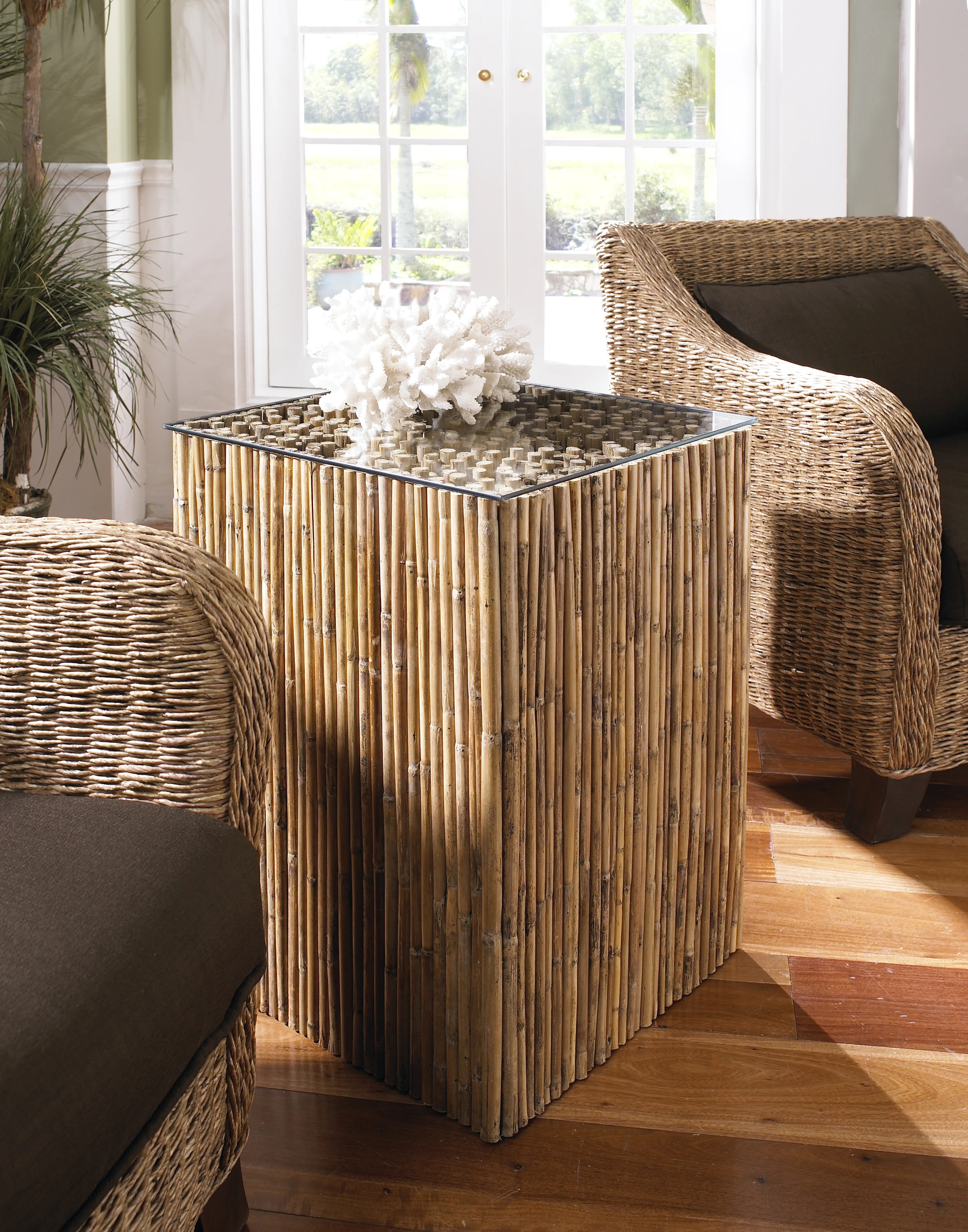 Bamboo Stick Side Table | Padma's Plantation