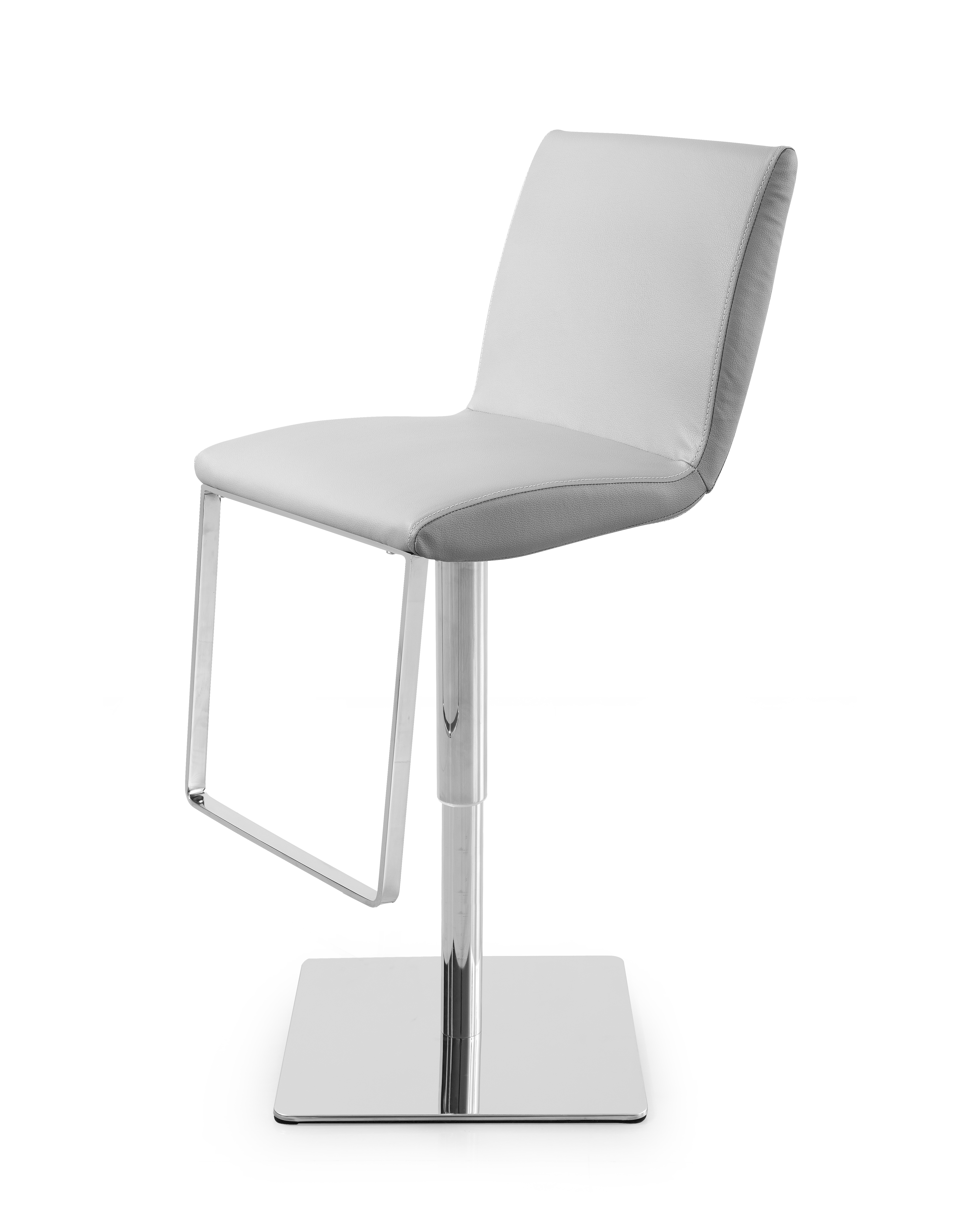 Enjoyable Gia Barstool Grey Adjustable Height Chrome Base Whiteline Metropolitandecor Caraccident5 Cool Chair Designs And Ideas Caraccident5Info