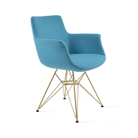 Bottega Tower Arm Chair Fabric | SohoConcept