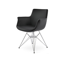 Bottega Tower Arm Chair Leather | SohoConcept