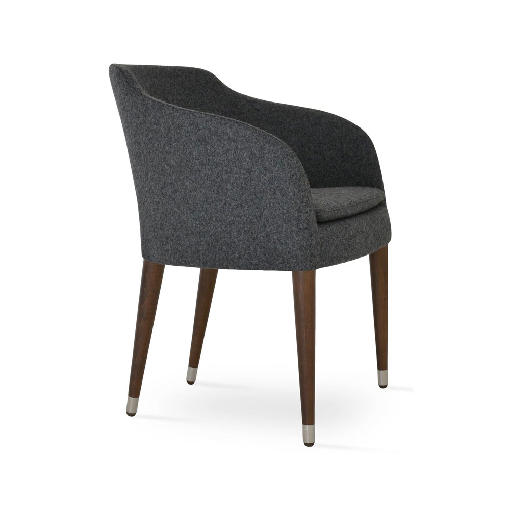 Buca Arm Chair Wood Base Fabric | SohoConcept