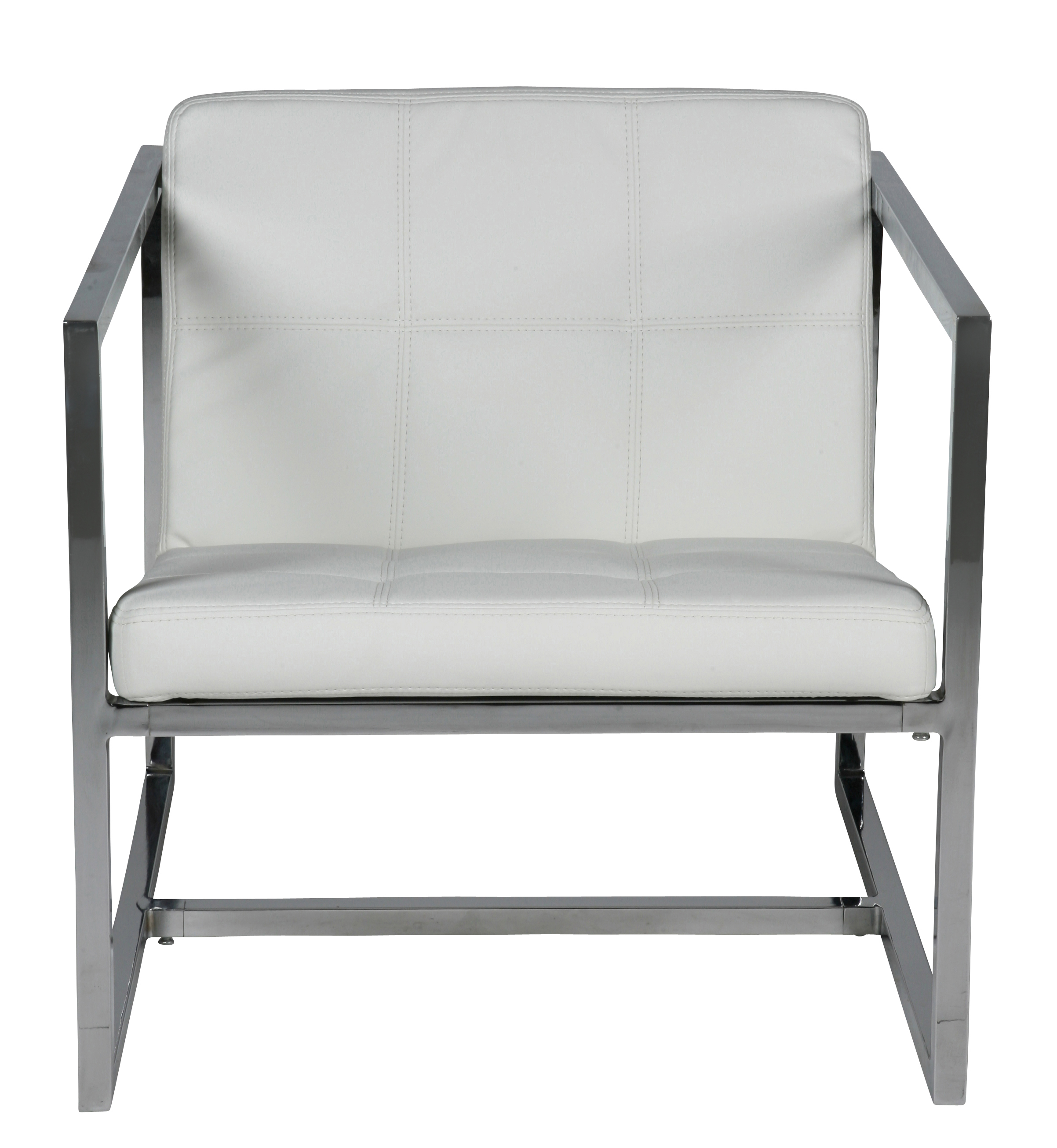 Lisa Chair White Chrome Frame | Whiteline