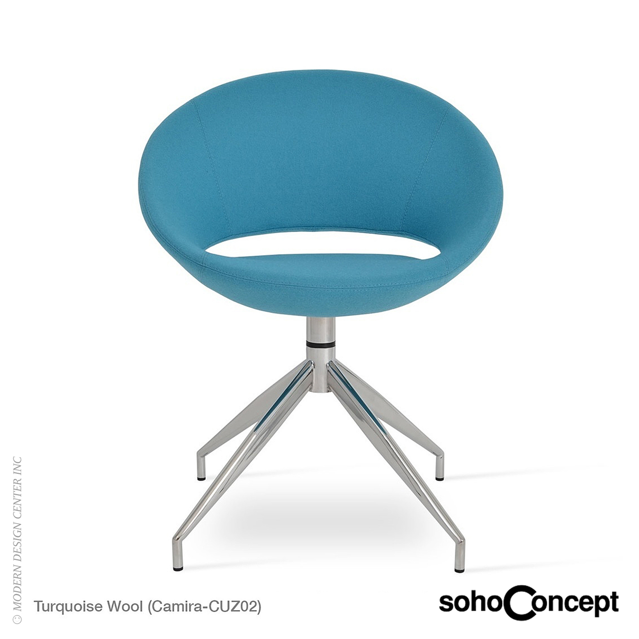 Crescent Spider Swivel Chair - SohoConcept at MetropolitanDecor