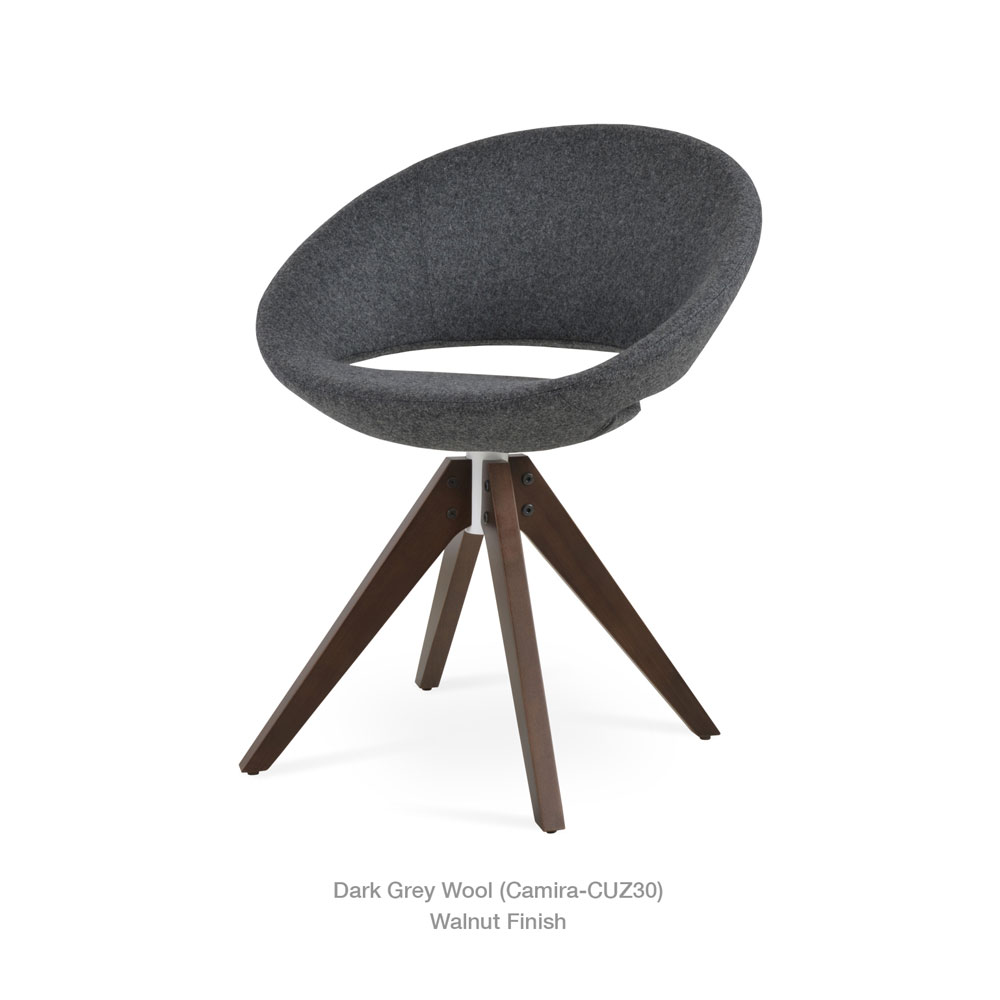 Crescent Pyramid Swivel Chair Fabric | SohoConcept