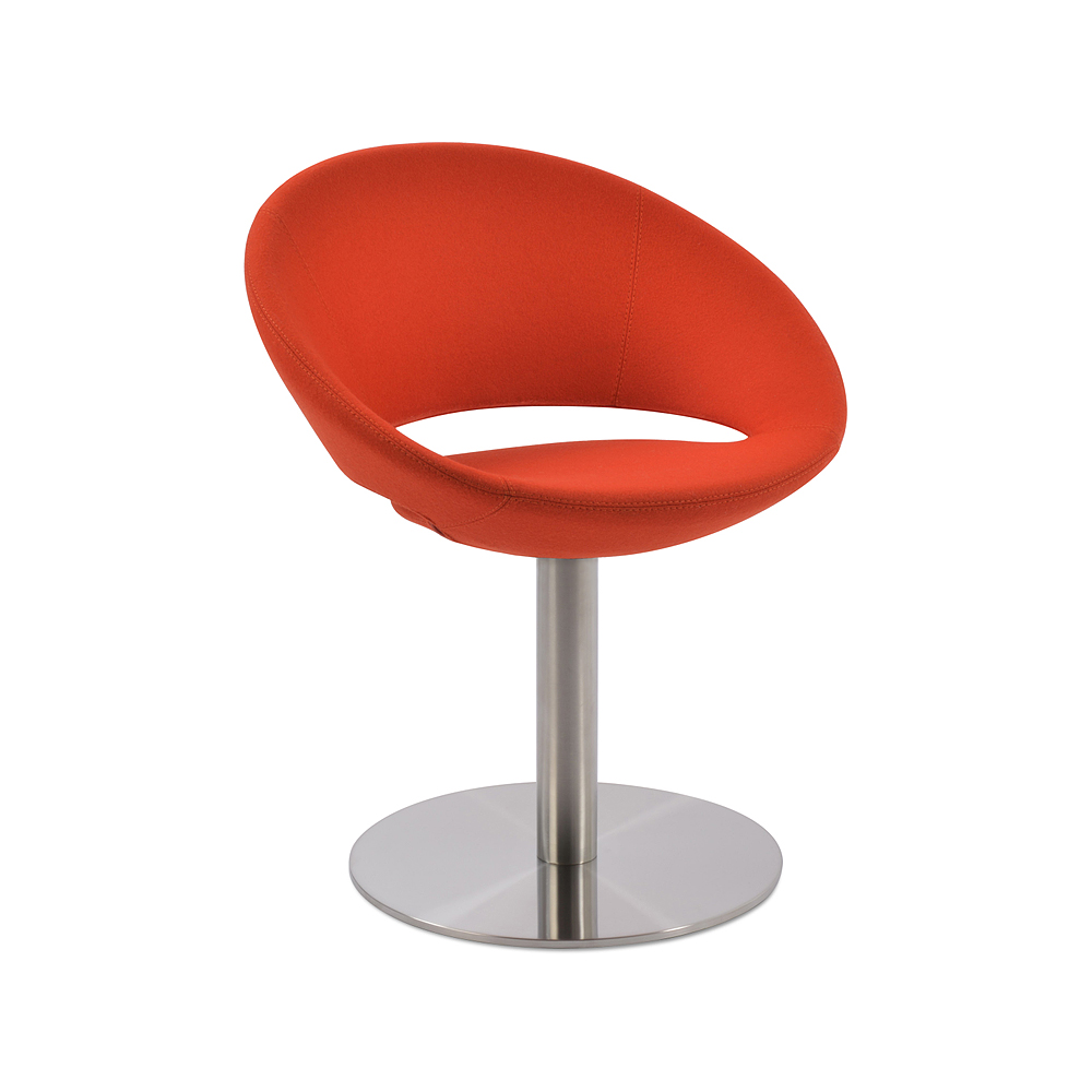 Crescent Round Swivel Chair Fabric | SohoConcept