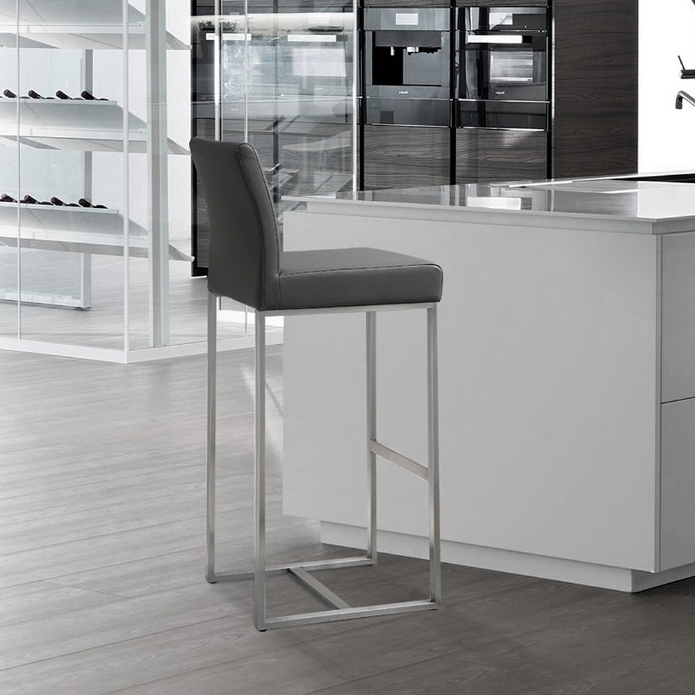 Tremendous Tov Furniture Denmark Grey Stainless Steel Counter Stool Tov Furniture Metropolitandecor Caraccident5 Cool Chair Designs And Ideas Caraccident5Info
