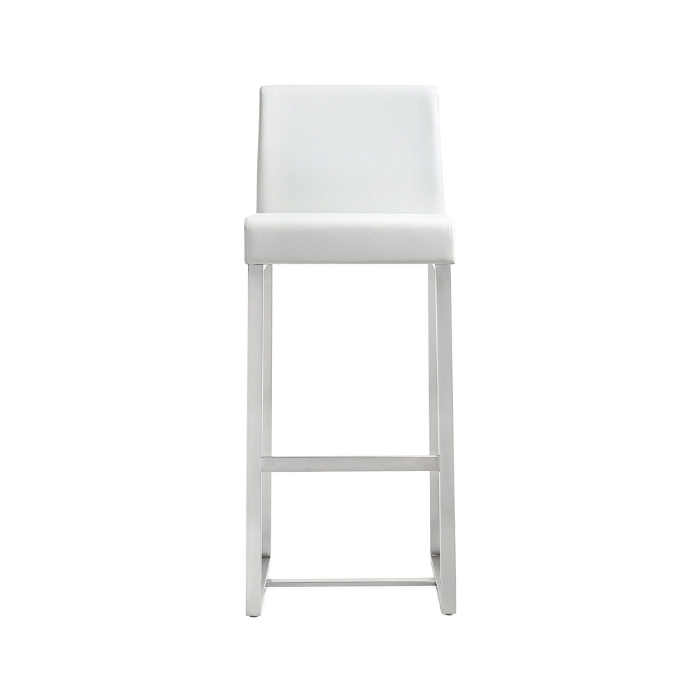 Awesome Tov Furniture Denmark White Stainless Steel Bar Stool Tov Furniture Metropolitandecor Caraccident5 Cool Chair Designs And Ideas Caraccident5Info