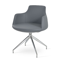 Dervish Spider Swivel Dining Chair Leather | SohoConcept
