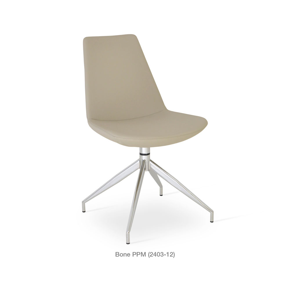 Eiffel Spider Swivel Chair Leather | SohoConcept