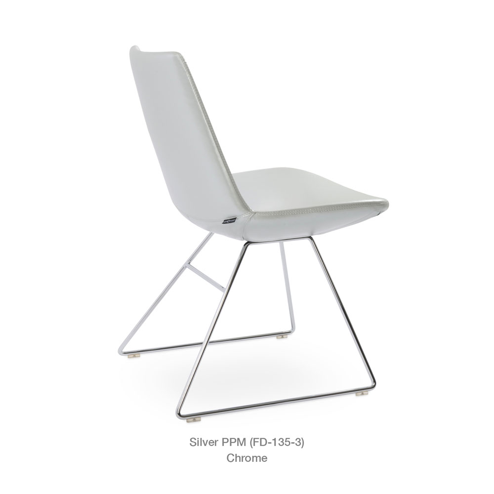Eiffel Wire Dining Chair Leather | SohoConcept