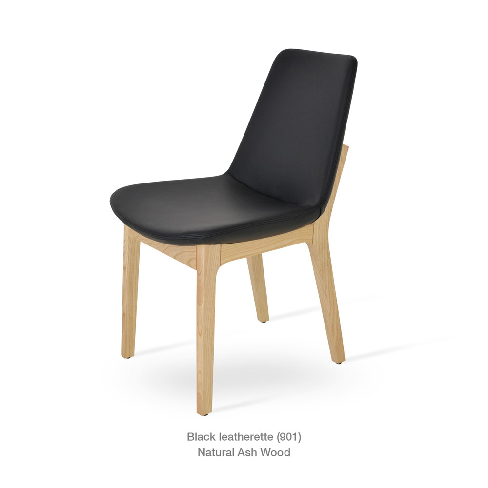 Eiffel Wood Chair Leather | SohoConcept - Set of 4