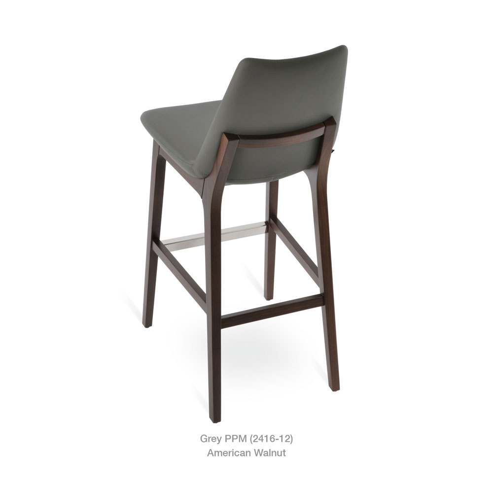 Surprising Eiffel Wood Stool Leather Sohoconcept Gmtry Best Dining Table And Chair Ideas Images Gmtryco