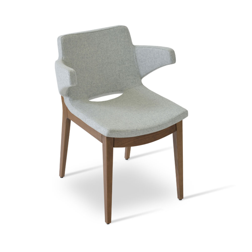 Nevada Arm Wood Dining Chair | SohoConcept