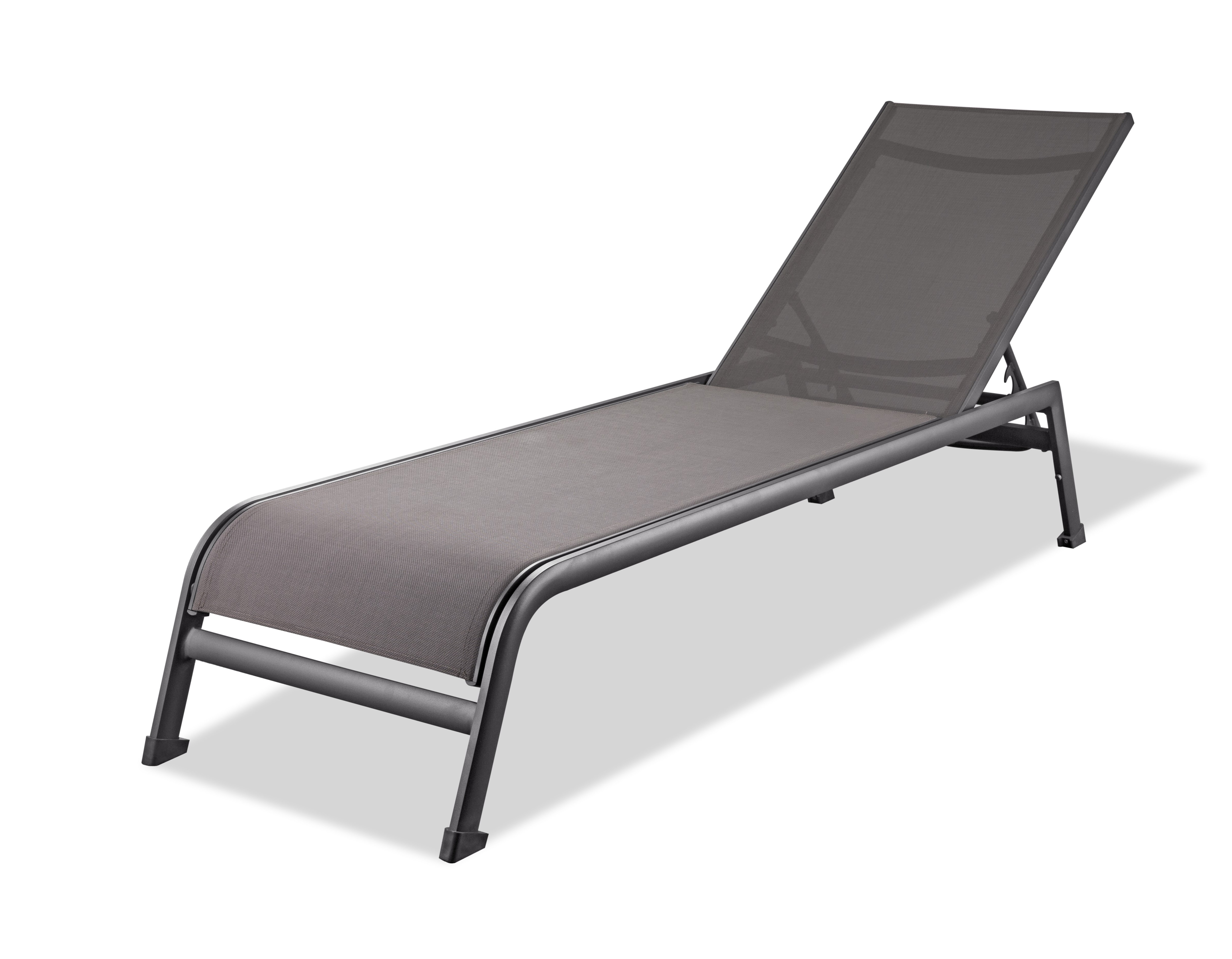 Sunset Outdoor Chaise Lounge Grey | Whiteline