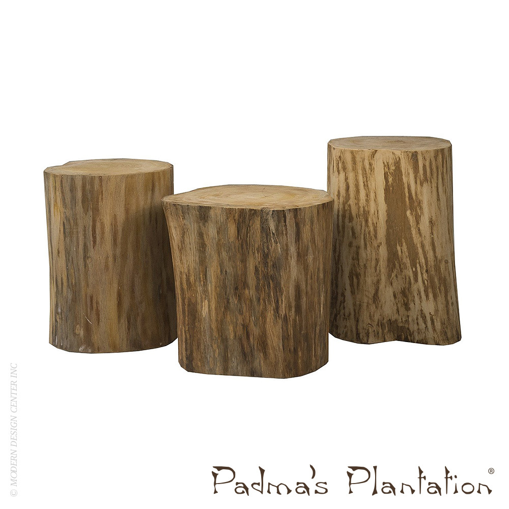 Natural Tree Stump Side Table | Padma\'s Plantation | MetropolitanDecor
