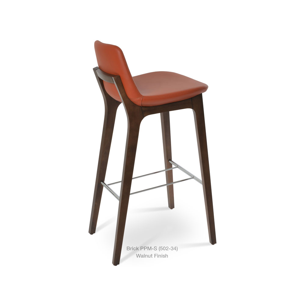 Pera HB Wood Stool Leather | SohoConcept