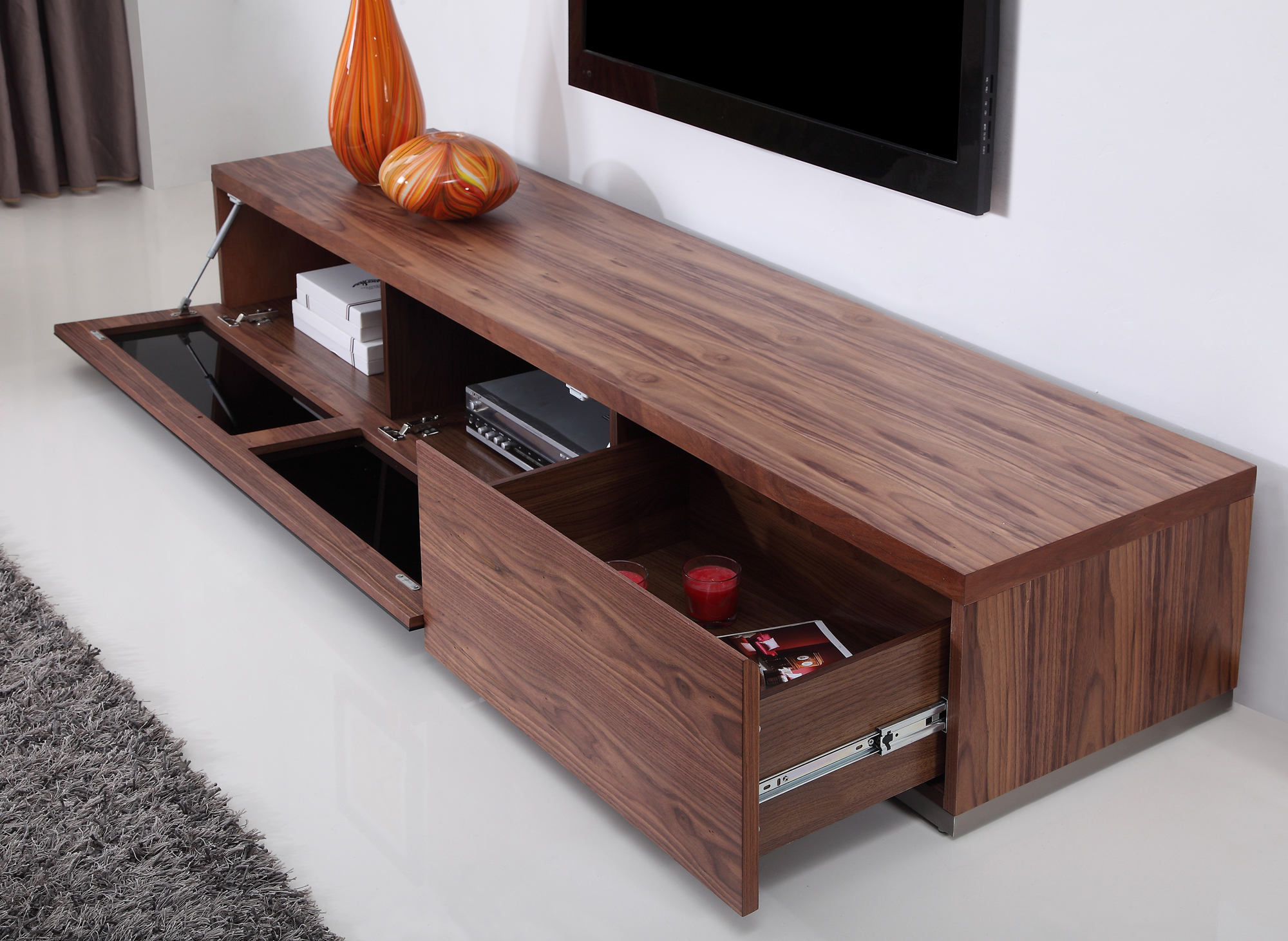 B Modern Producer Tv Stand In Walnut At