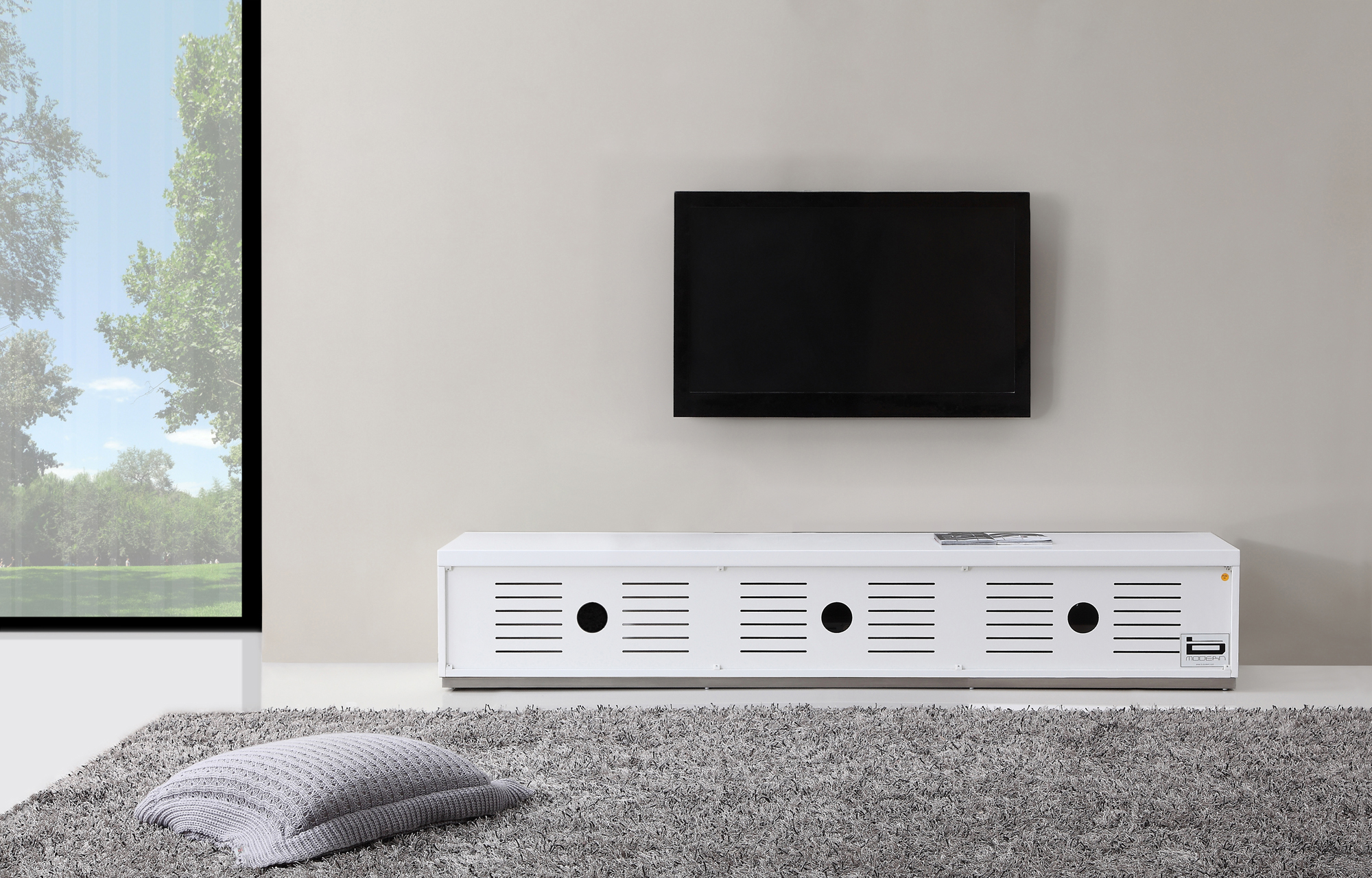 B Modern Producer Tv Stand In White At