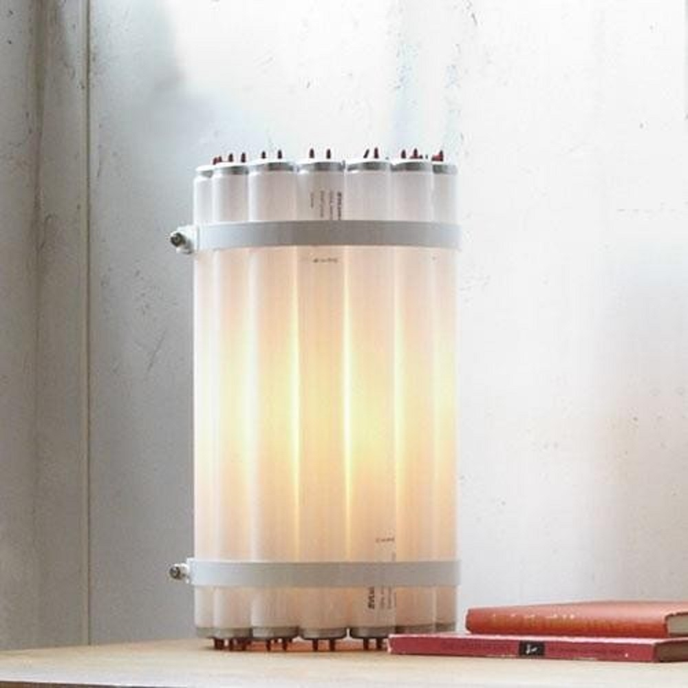 Recycled Tube Light - Table Light | Castor Design