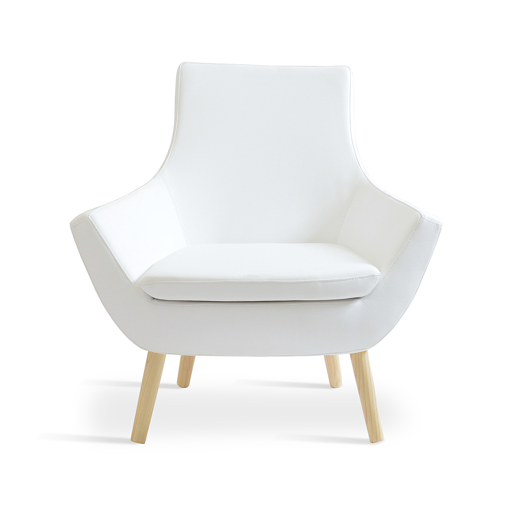 Rebecca Wood Arm Chair Leather | SohoConcept