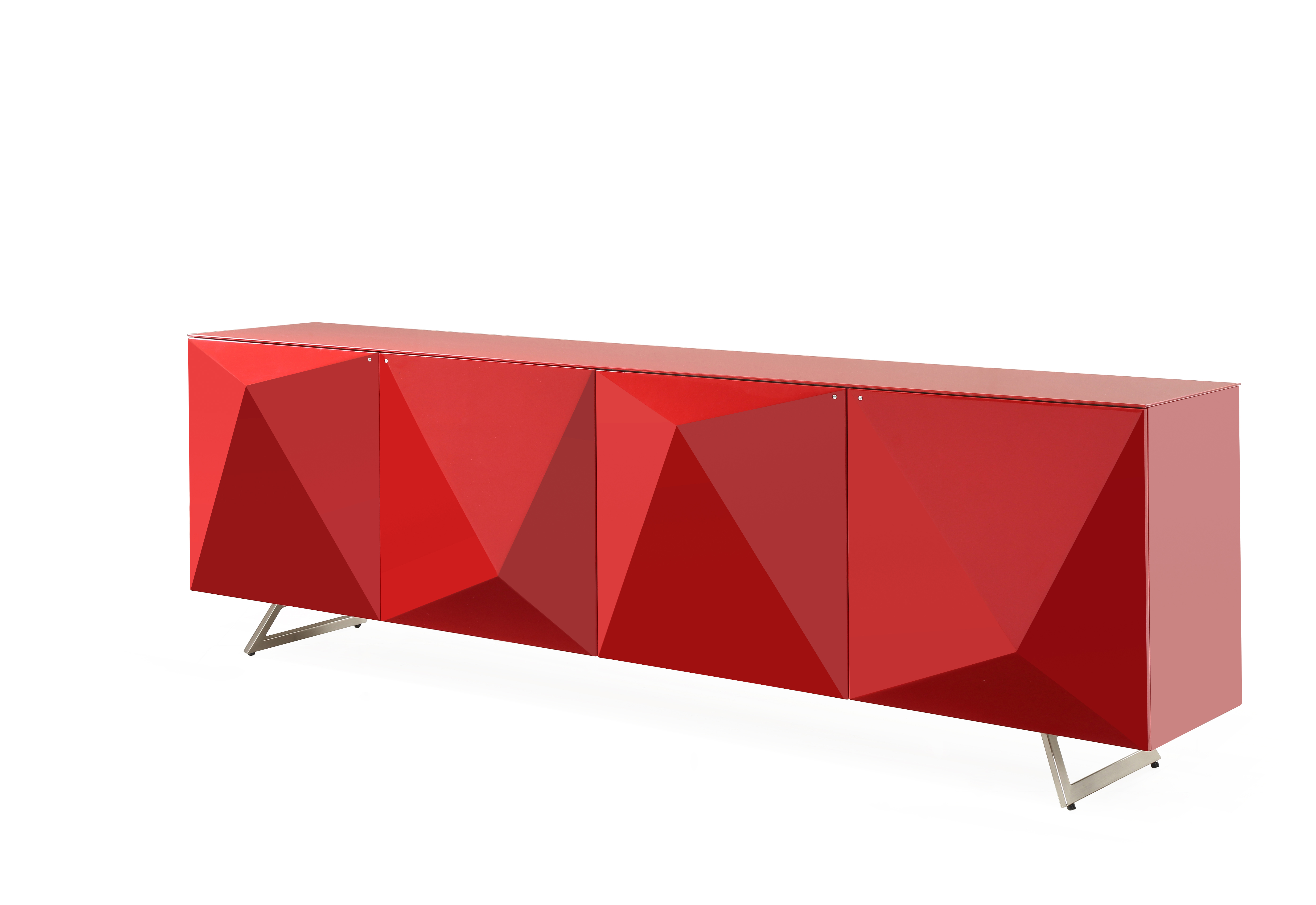 Picture of: Samantha Buffet Table High Gloss Red Whiteline Metropolitandecor