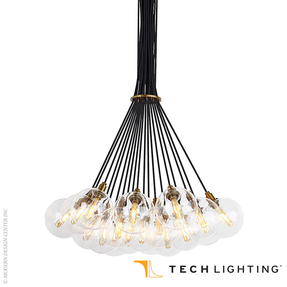 Gambit 19-light LED Chandelier | Tech Lighting