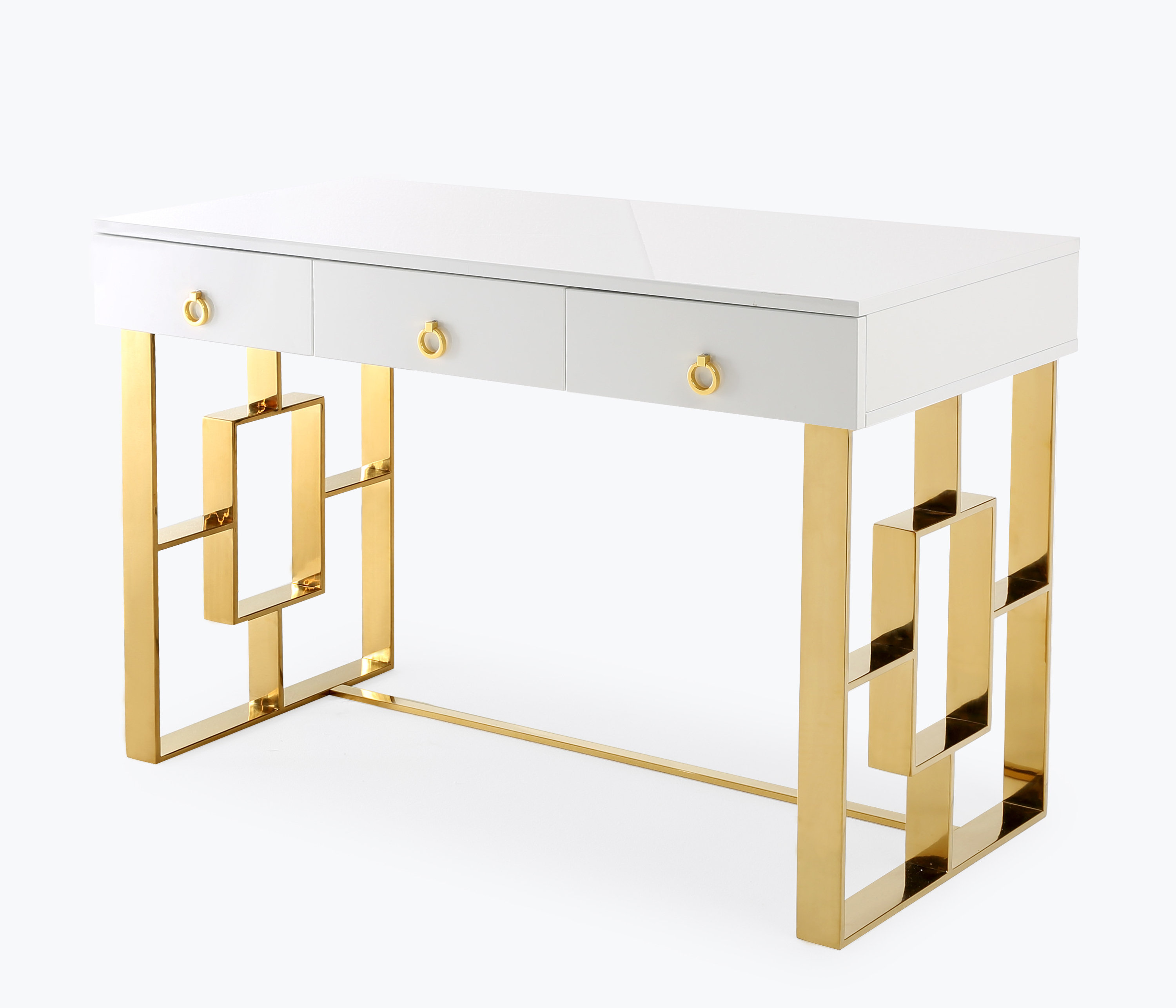 Add To My Lists Tov Audrey White Lacquer Desk
