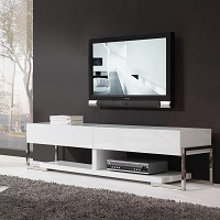Agent TV Stand, all White | B-Modern