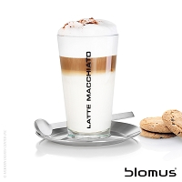 Cono Latte Macchiato Server with Saucer | Blomus