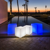 Cube LED Indoor/Outdoor Lamp | Smart & Green