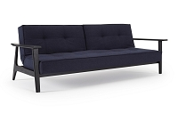 Splitback Sofa with Frej Arms, Black Laquered| Innovation USA