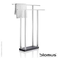 Menoto Free Standing Towel Rack Wide Polished | Blomus
