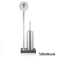 Menoto Toilet Butler with Tall Brush Holder Polished | Blomus