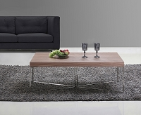 Mixer Coffee Table, Walnut and Stainless Steel | B-Modern