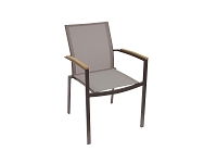 Sanctuary Taupe Outdoor Dining Armchair| Whiteline