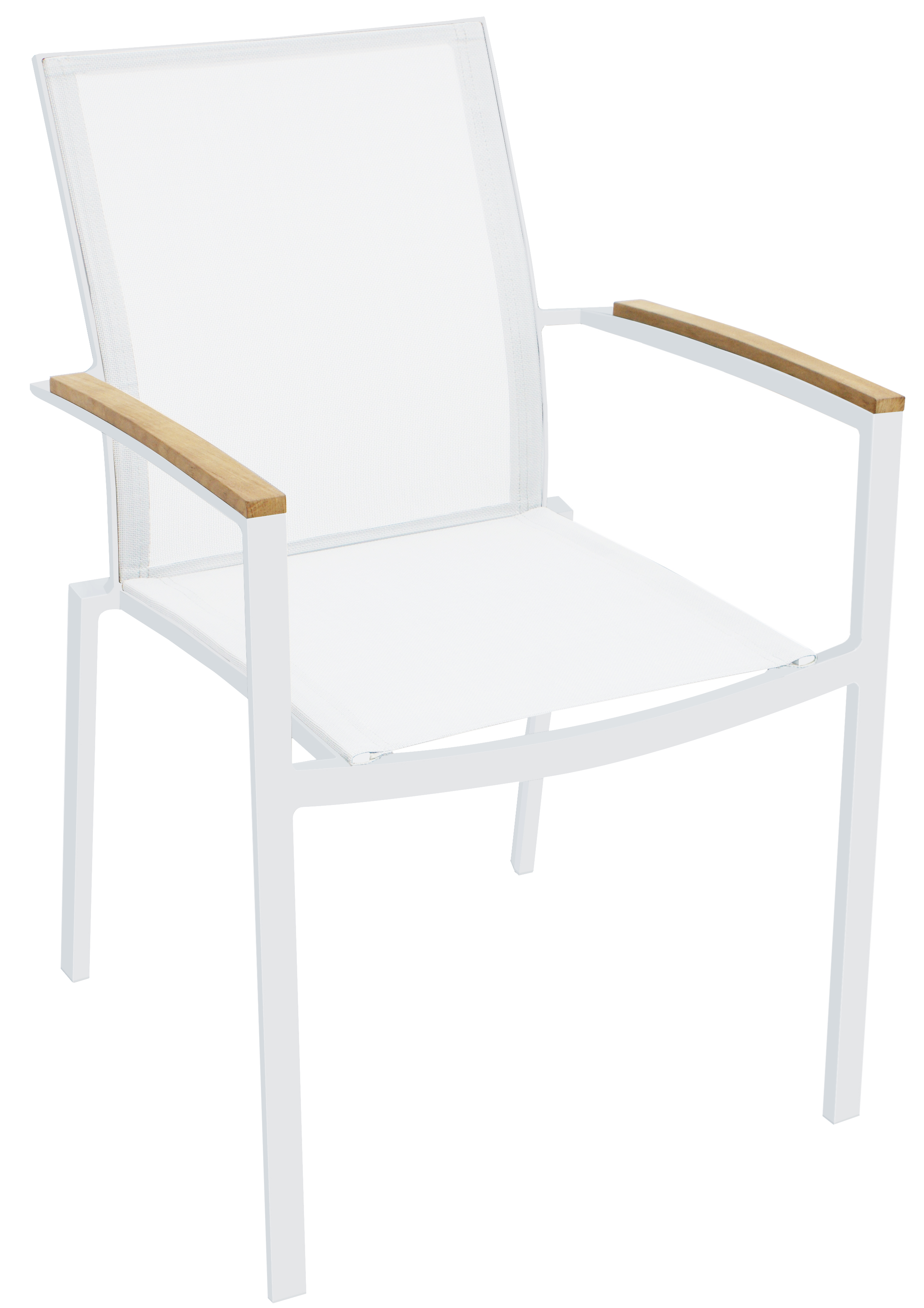 Sanctuary White Outdoor Dining Armchair| Whiteline