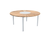 Sanctuary White Outdoor Dining Table| Whiteline