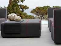 Lava Outdoor Ottoman| Whiteline